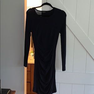 Navy Fitted Sweater Dress
